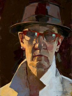 CATHERINE KEHOE -  Dr K's New Hat   oil on panel