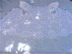 Crochet Knitting Handicraft: White blouse for girl Bolero Sweater, Lace Bolero, Lace Vest, Lace Shorts, Little Girl Crafts, Crafts For Girls, Crochet For Kids, Crochet Baby, Knit Crochet