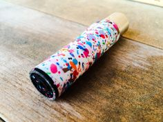 Never loose your lighter at the party. Spray Saints custom made splattered spray painted Clipper lighters. Removable stem for pipe cleaning.