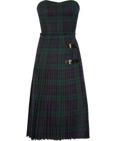 McQ Alexander McQueen, The Black Watch plaid bustier dress. Dying!