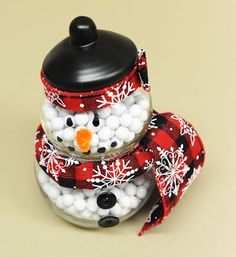 find this pin and more on i love christmas ben franklin crafts and frame shop snowman candy jar - Christmas Candy Jar Decorations