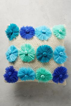 Slide View: 1: Blooms Tasseled Cushion