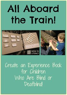 Make your own experience book with braille and tactile symbols for a child who is blind, low vision, or deafblind.