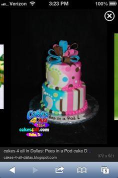 Baby shower twin cake