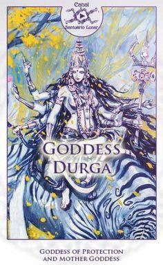 Goddess Durga or Maa Durga is one of the most important Hindu Goddesses. Durga is a Warrior Goddess who symbolizes the supreme feminine power. Celtic Goddess, Mother Goddess, Goddess Art, Goddess Lakshmi, Durga Kali, Shiva Shakti, Indian Gods, Indian Art, List Of Deities