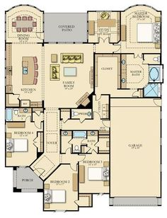 Family House Plans, Bedroom House Plans, New House Plans, Dream House Plans, House Floor Plans, My Dream Home, Dream Houses, Modular Floor Plans, Br House