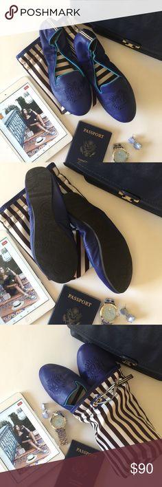 Henri Bendel Travel Leather Loafers NWOT! 100% Soft leather  Henri Bendel monogram embroidery  Signature Brown & White Stripe interior  Foldable  Includes travel pouch henri bendel Shoes Flats & Loafers