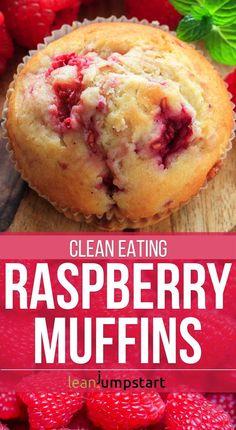 eat clean raspberry muffins