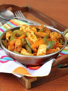 Indian Vegetarian - Paneer (cottage cheese) jalfrezi