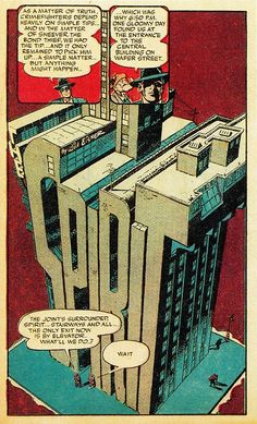 Splash Page From THE SPIRIT #60 (July, 20 1941) By Will Eisner