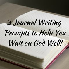 I'm sharing 3 journal writing prompts to help you during your waiting season. You can find them on my blog www.miraculouslovely.com. Blessings!