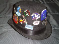 Odyssey of the Mind world trading pin hat