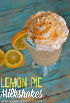 ... . That's what these simple 3 ingredient Lemon Pie Milkshakes are