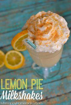 ... . That's what these simple 3 ingredient Lemon Pie Milkshakes are