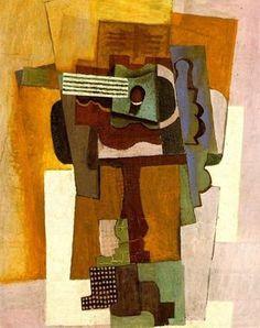 1915 Guitare sur un guéridon Pablo Picasso