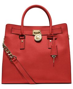 MICHAEL Michael Kors Handbag, Hamilton Saffiano Leather Tote - MICHAEL Michael Kors - Handbags & Accessories - Macy's