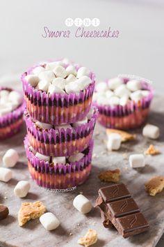 Mini S'mores Cheesecakes #apeekintomyparadise #ticklemytastebuds #recipe #food #dessert
