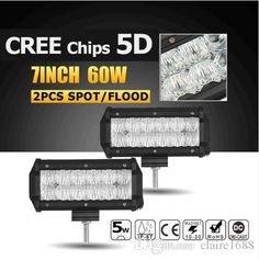 7inch CREE Chips 5D 60W Flood/Spot LED Work Light Bar Truck SUV ATV Boat 4x4 4WD Offroad Led Bar Light Driving Lamp 12v 24v - $112.99
