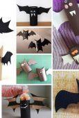 À l'Halloween aussi les fameux rouleaux de papier de toilette peuvent servir à bricoler avec les enfants. Voici dix idées pour les réutiliser.