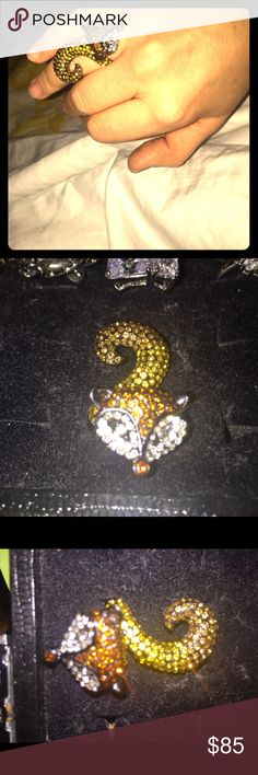 Park Lane fox Swarovski ring (size 7) Real Swarovski crystals. Used just  3 or 4 times, in excellent condition. Retailed $156! Park Lane Jewelry Rings