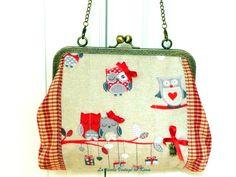 Bolso con boquilla - Buhos- de La Tienda Vintage de Kima por DaWanda.com