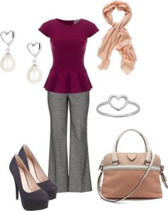 Valentine's Day Work Outfit Idea  http://outfitideas4you.com
