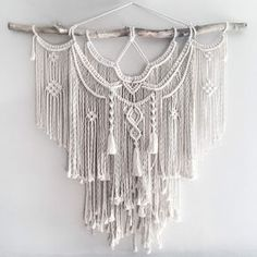 "Large 44"" Macrame Wall Hanging // tapestry // macrame decor // boho decor // wall art // bohemian // Made to order by theDopeRope on Etsy https://www.etsy.com/listing/480051338/large-44-macrame-wall-hanging-tapestry"
