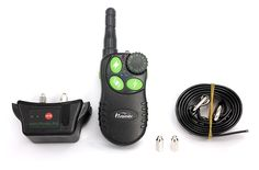 LittleStream cat Dog Cat Training Collar -550 Yards Waterproof Rechargeable Long Standby Remote and Rainproof Receiver with Flashlight and Back Light Screen for One Dog Beep/Vibration/Shock modes * Find out more details by clicking the image : Cat Collar, Harness and Leash