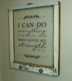 Strength...Love this on framed glass.