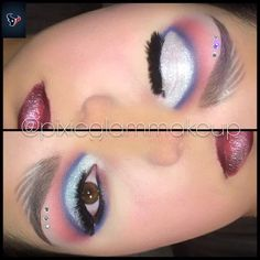 Houston Texans Inspired MakeUp