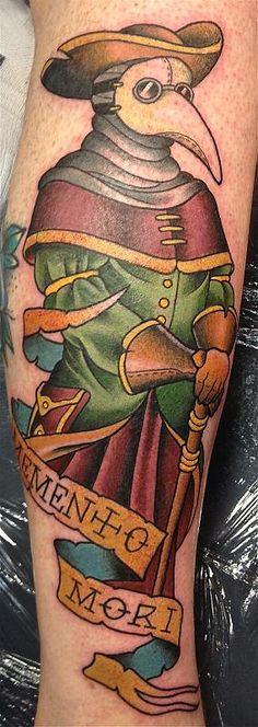 New Medical Doctor Tattoo Dr. Who Ideas Tattoo Tod, Death Tattoo, Head Tattoos, Body Art Tattoos, Future Tattoos, Tattoos For Guys, Plauge Doctor, Medical Doctor, Black Tattoos