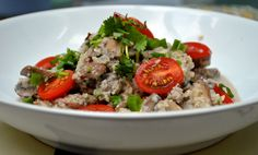 Comfort without the stodge are the fist 4 words which spring to mind when describing this dish. Really quick, really easy and one that your bank card will thank you for. This is one of my favourite… Main Dish Salads, Main Dishes, Mushroom Risotto, Dairy Free, Paleo Dairy, Gluten Free, Cauliflower Rice, Plant Based Recipes, Healthy Fats