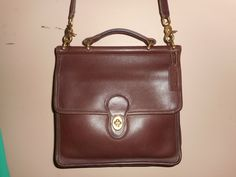 "VINTAGE COACH 10"" x 10"" Brown Leather Willis Shoulder Bag #J5C-9927 USA by COACHCROSSING on Etsy"