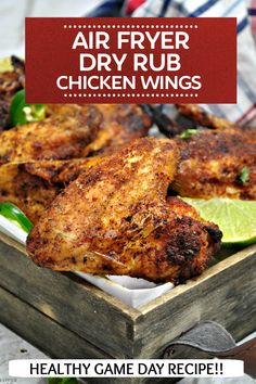 Dry Rub Chicken Wings, Fried Chicken Wings, Dry Rub Recipes, Air Fryer Recipes, Game Day Snacks, Game Day Food, Air Fryer Wings, Recipe Fr, Great Appetizers