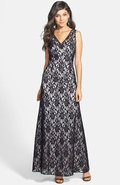 Hailey by Adrianna Papell Sleeveless Lace Gown available at #Nordstrom