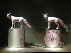 Le Bon Marché windows 2013, Paris-when I visited this store in Paris, Carolyn Roehm was there shopping.