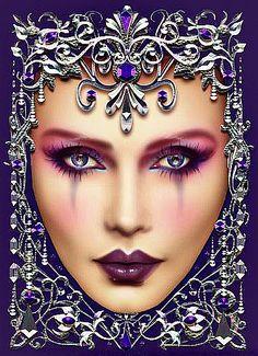 Amethyst by Maxine Gadd Fantasy Women, Fantasy Art, Art Deco Cards, Bo Bartlett, All Things Purple, Fairy Art, Vintage Images, Silver Color, New Art