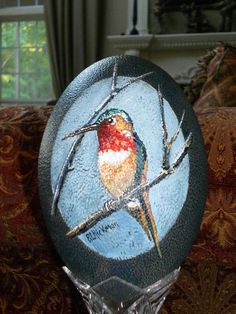 Hand painted Emu egg