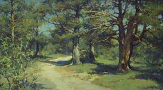 Road To The Cape Pechak. Solovki - oil, canvas, Yuri Vasendin