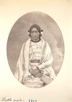 Daughter of Cacique, Pueblo Indians, Taos, NM (1871)
