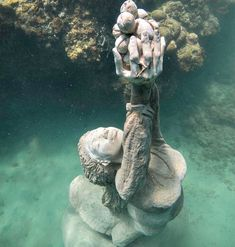 , Grenada Underwater Sculpture Park – A Modern Wonder , If I wasn't so scared of water, I'd love to see this up close: Grenada Underwater Sculpture - Nutmeg Princess. Underwater Sculpture, Underwater City, Sculpture Art, Underwater Photos, Underwater Photography, Nature Photography, Film Photography, Street Photography, Landscape Photography