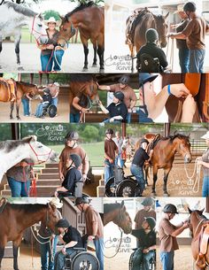 Therapy with Hank & Trip :: ManeGait Therapeutic Horsemanship :: where children & adults with disabilities move beyond their boundaries through the healing power of horses