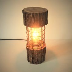 The top and base are from the same actual log so match perfectly, they have been spaced apart by some really rusty metal grill that also acts as a lovely c