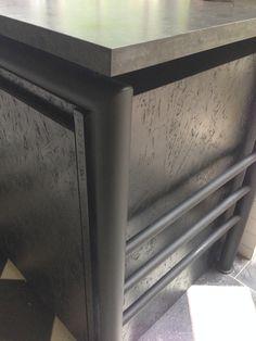 Black kitchen   Steel   Black Granite   Osb board   Industrial   Smeg   Small   Modern   Simplicity   Etienne Hanekom Interiors