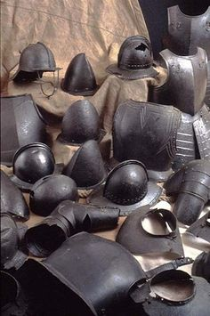 Photo:Collection of armour from the English Civil War
