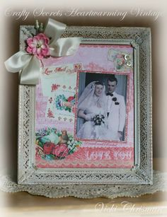 This art that makes me happy: Crafty Secrets February DT Challenge and Linky Party - Altered Sweeheart Frame