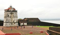 https://flic.kr/p/p5Zawi | Fort Aguada & Lighthouse,Goa | The fort was built by the Portuguese rulers of Goa between 1609-1612 on Sinquerim Beach ,Goa.Built strategically at the estuary of River Mandovi,this fort served to guard old Goa from the depradations of the Dutch and the Marathas.It was sturdily built and never captured during the 450 years of Portuguese rule in Goa. The lighthouse was built in 1864.It is 43 feet tall.Initially it used to emit light every 7 minutes and later this was…