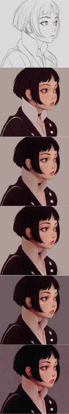 Tags : Art ; painting ; watercolor ; portraits ; anime ; animation ; drawing ; illustration by Ilya Kuvshinov