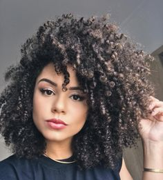 Pin by leaha's natural life on natural hairspiration in 2019 How To Grow Natural Hair, Natural Hair Tips, Natural Hair Inspiration, Natural Curls, Natural Hair Styles, Short Curly Hair, Curly Girl, Curly Hair Styles, Q Hair