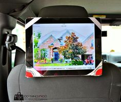 Check out the blog today for an easy sewing tutorial on making an iPad holder that will attach to your car headrest.  Kids can watch videos in the back seat!